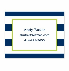 boatman geller awning stripe navy calling card