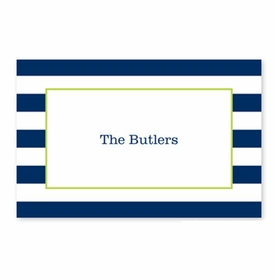 boatman geller awning stripe navy disposable placemats