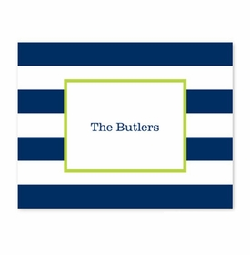 boatman geller awning stripe navy fold over note