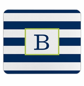 boatman geller awning stripe navy mouse pad