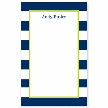 boatman geller awning stripe navy notepad