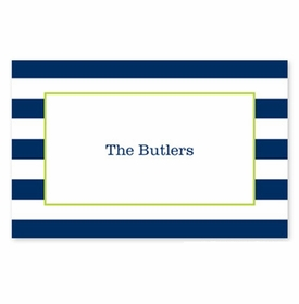 boatman geller awning stripe navy placemat