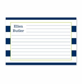 boatman geller awning stripe navy recipe card