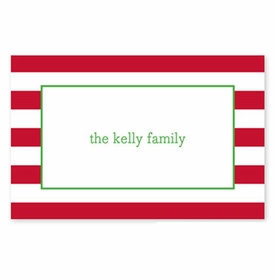 boatman geller awning stripe red placemat