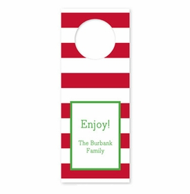 boatman geller awning stripe red wine tags