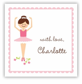 boatman geller ballerina square sticker