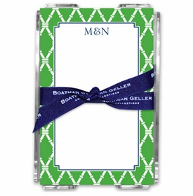 boatman geller bamboo kelly note sheets in acrylic note sheets
