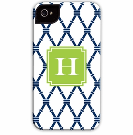 boatman geller bamboo navy & green cell phone case