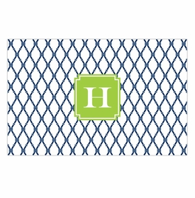 boatman geller bamboo navy & green disposable placemats