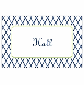 boatman geller bamboo navy & green placemat