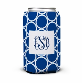 boatman geller bamboo rings navy can koozie