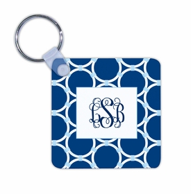 boatman geller bamboo rings navy key chain