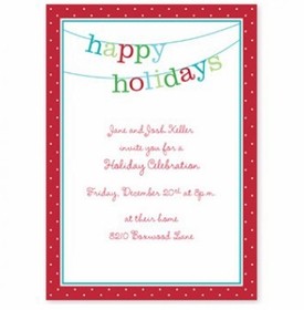 boatman geller banner happy holidays large flat notecard