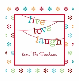 boatman geller banner live love laugh square sticker