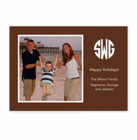 boatman geller basketweave brown photocard