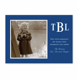 boatman geller basketweave navy photocard