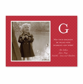 boatman geller basketweave red photocard