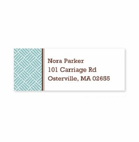 boatman geller basketweave slate address labels