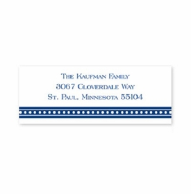 boatman geller beaded navy address labels