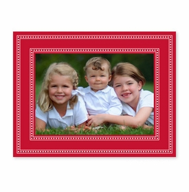 boatman geller beaded red photocard