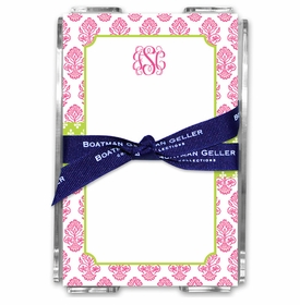 boatman geller beti pink acrylic note sheets