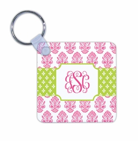 boatman geller beti pink key chain