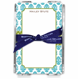 boatman geller beti teal acrylic note sheets
