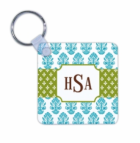 boatman geller beti teal key chain
