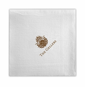 boatman geller beverage napkin with icon