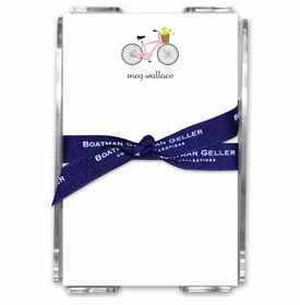 boatman geller bicycle acrylic note sheets