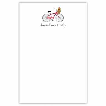 boatman geller bicycle holiday notepad