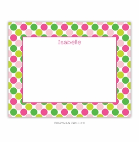 boatman geller big dots pink and green small flat notecard