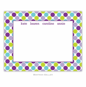 boatman geller big dots purple small flat notecard