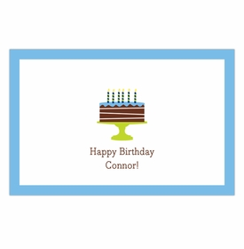 boatman geller birthday cake blue disposable placemats