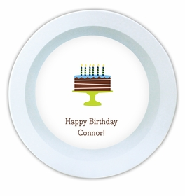 boatman geller birthday cake blue melamine bowl