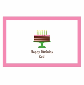 boatman geller birthday cake pink disposable placemats