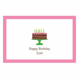boatman geller birthday cake pink placemat