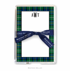 boatman geller black watch plaid acrylic note sheets