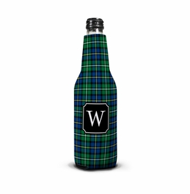boatman geller black watch plaid bottle koozie