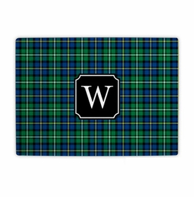 boatman geller black watch plaid cutting board