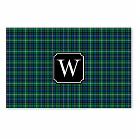 boatman geller black watch plaid disposable placemats