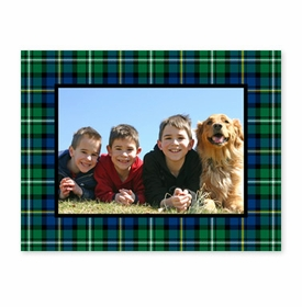 boatman geller black watch plaid photocard
