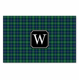 boatman geller black watch plaid placemat
