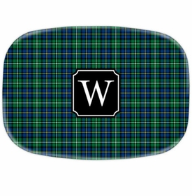 boatman geller black watch plaid platters