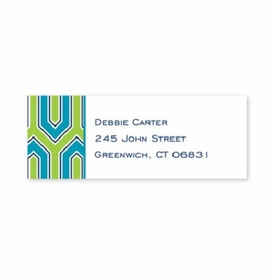 boatman geller blaine turquoise address labels
