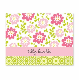 boatman geller block meadow pink foldover note cards