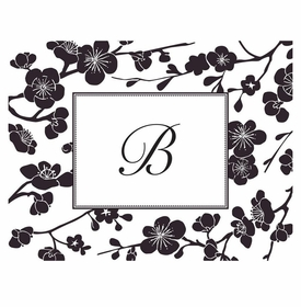 boatman geller blossom black foldover note cards