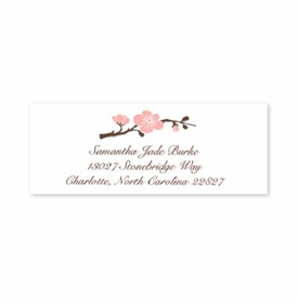boatman geller blossom pink address labels