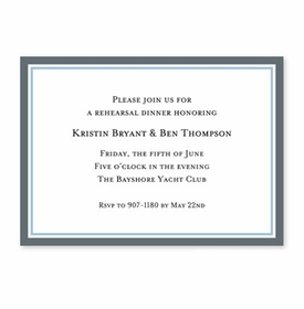 boatman geller border charcoal and light blue stationery/invitation
