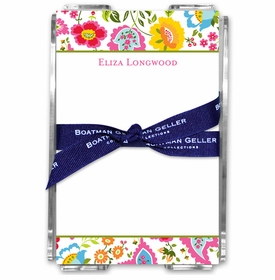 boatman geller bright floral acrylic note sheets